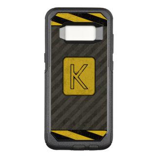 Industrial Grunge Monogram OtterBox Commuter Samsung Galaxy S8 Case