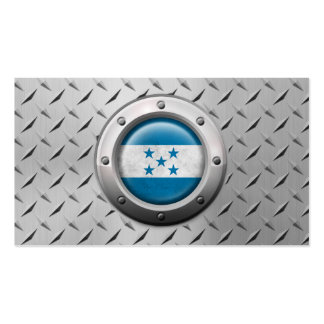 Industrial Honduras Flag with Steel Graphic Pack Of Standard Business Cards