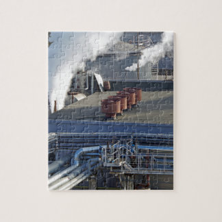 Industrial infrastructure, buildings and pipeline jigsaw puzzle