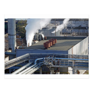 Industrial infrastructure, buildings and pipeline postcard