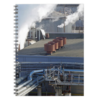 Industrial infrastructure, buildings and pipeline spiral notebook