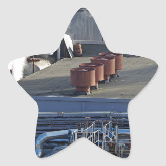 Industrial infrastructure, buildings and pipeline star sticker