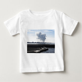 Industrial landscape along the coast baby T-Shirt
