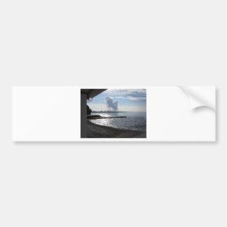 Industrial landscape along the coast bumper sticker