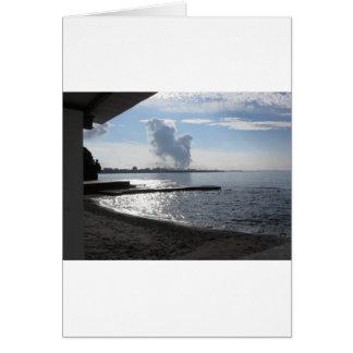 Industrial landscape along the coast card