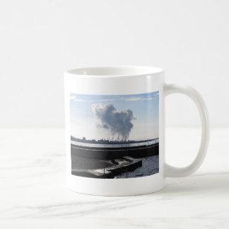 Industrial landscape along the coast coffee mug