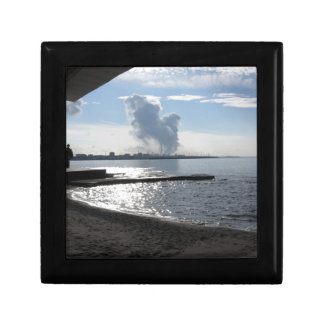 Industrial landscape along the coast gift box