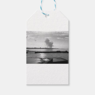 Industrial landscape along the coast gift tags