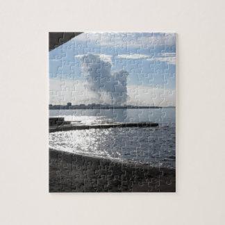 Industrial landscape along the coast jigsaw puzzle