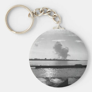 Industrial landscape along the coast keychain
