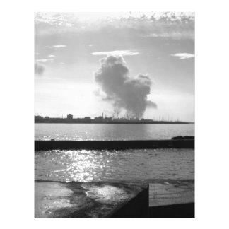 Industrial landscape along the coast letterhead