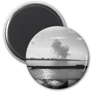 Industrial landscape along the coast magnet