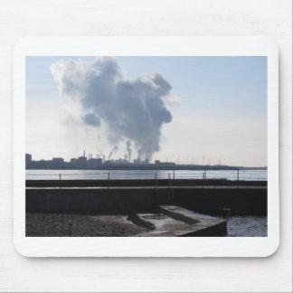 Industrial landscape along the coast mouse pad