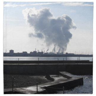 Industrial landscape along the coast napkin