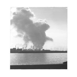 Industrial landscape along the coast notepad