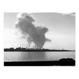 Industrial landscape along the coast postcard
