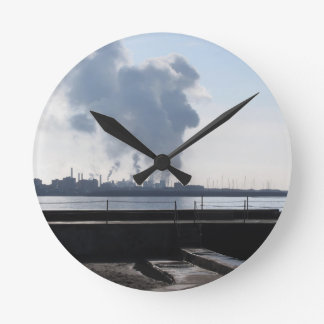 Industrial landscape along the coast round clock