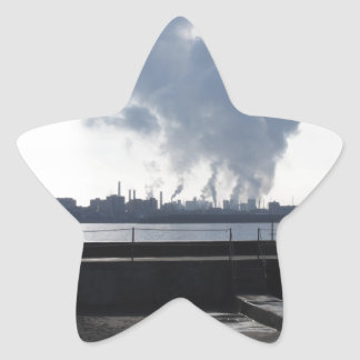 Industrial landscape along the coast star sticker