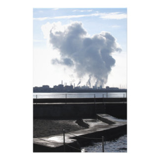 Industrial landscape along the coast stationery