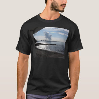 Industrial landscape along the coast T-Shirt