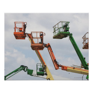 Industrial lifting platforms poster