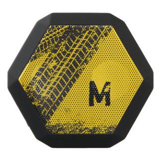 Industrial Man-Cave Garage Tire Track. Black Bluetooth Speaker