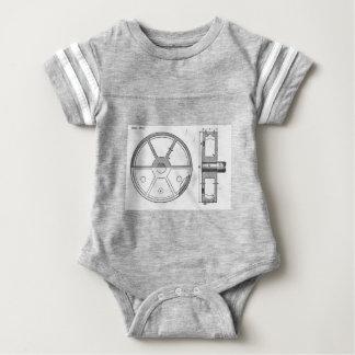Industrial Mechanical Gears Ephemera Print Baby Bodysuit