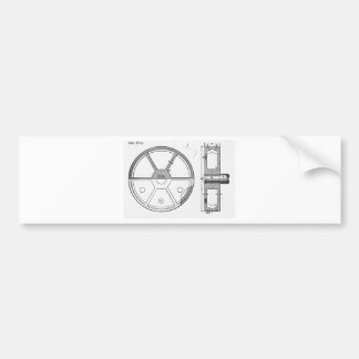 Industrial Mechanical Gears Ephemera Print Bumper Sticker