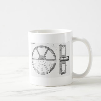 Industrial Mechanical Gears Ephemera Print Coffee Mug