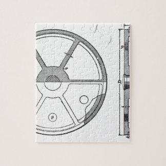Industrial Mechanical Gears Ephemera Print Jigsaw Puzzle