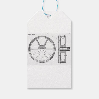 Industrial Mechanical Gears Ephemera Print Pack Of Gift Tags
