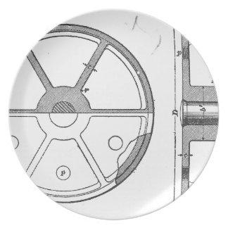 Industrial Mechanical Gears Ephemera Print Plate