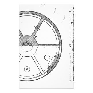 Industrial Mechanical Gears Ephemera Print Stationery