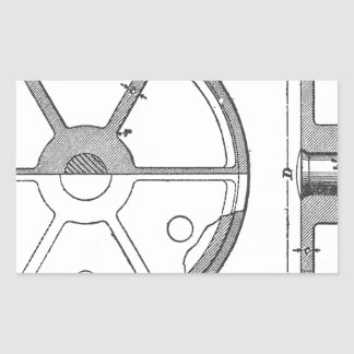 Industrial Mechanical Gears Ephemera Print Sticker