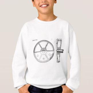 Industrial Mechanical Gears Ephemera Print Sweatshirt