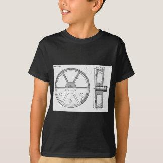 Industrial Mechanical Gears Ephemera Print T-Shirt