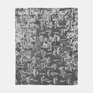 Industrial Metal Texture Grey Fleece Blanket