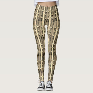 Industrial Minimalism Colors Abstract Design Sepia Leggings