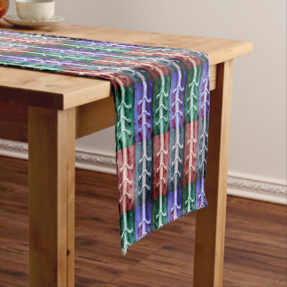 Industrial Minimalism Green and Brown Design Short Table Runner