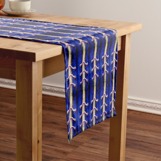 Industrial Minimalism Royal Blue Design Short Table Runner