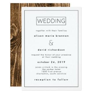 Industrial Minimalist Wedding Invitation