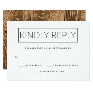 Industrial Minimalist Wedding Response Card