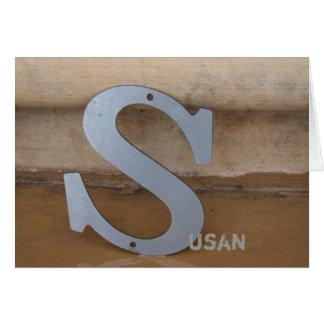 "Industrial Monogram ""S"" Note Cards"