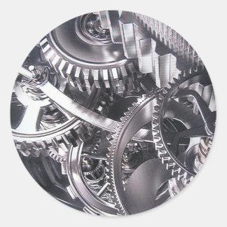Industrial movement. classic round sticker