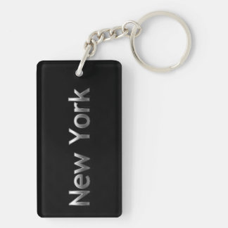 Industrial New York - On Black Keychain