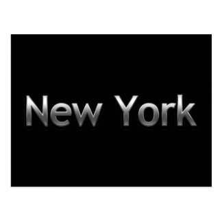 Industrial New York - On Black Postcard