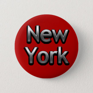 Industrial New York - On Red 2 Inch Round Button