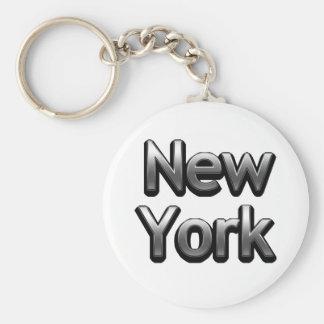 Industrial New York - On White Keychain