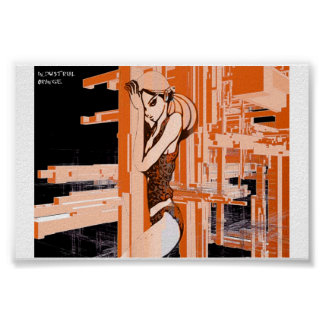 industrial orange poster