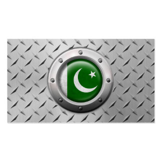 Industrial Pakistani Flag with Steel Graphic Business Card